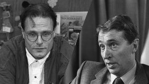 Kuvamontaasissa toimittaja Ruben Stiller ja radiojohtaja Tapio Siikala.