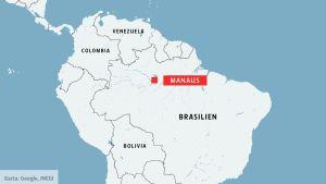 Manaus i Brasilien