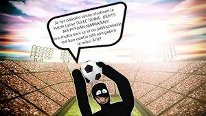 Suojiksen kuplakuva - Jalkapallokisat