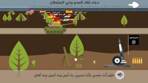 Skärmbild från en IS-relaterad app