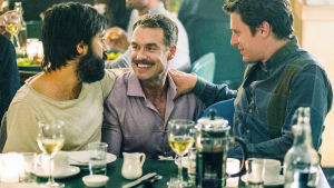 Looking-sarjan päähenkilöt Agustín Lanuez (Frankie J. Alvarez), Dom Basaluzzo (Murray Bartlett) ja Patrick Murray (Jonathan Groff).