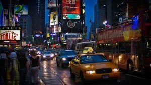 New York, öinen kaupunkikuva.