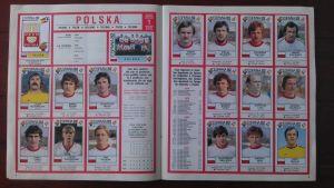 Det polska laget i vm i fotboll 1982 i Spanien som Panini fotbollskort