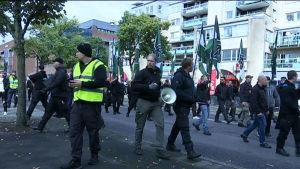 Nazistisk demonstration i Göteborg 17.9.2017