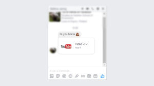 Skärmdump av det aktuella Facebookviruset