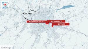 Karta över München