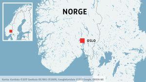 Oslo på en karta.