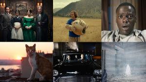 En samling på pressbilder för året 2017 filmer och tv-serier