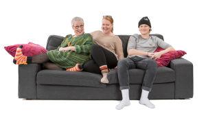 Sohvaperunat-sarjan viides tuotantokausi: Eila, Minna ja Olli, Lohja.