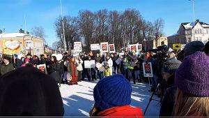 Demonstration i Lovisa