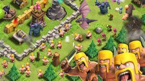 Bild på mobilspelet Clash of Clans.