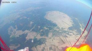 Söderfjärden fotograferad av en kamera i en väderballong.