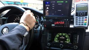 Taxichaufför.