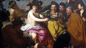 Dionysos, vinets gud sprider glädje bland folket