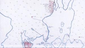 Helsingin kartta vuodelta 1645 näyttää sekä vanhan Helsingin Vantaa-joen suulla, että uuden Helsingin nykyisellä paikallaan.