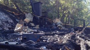 Brand på Innamo i kommundelen Nagu i Pargas