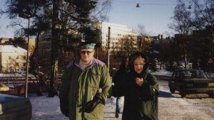 Juice Leskinen ja Kylli Koski kuvattuna Koivu ja tähti ohjelmassa.