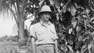 Hilma Granqvists handledare vid Helsingfors universitet, Gunnar Landtman, här på Papua på 1910-talet.