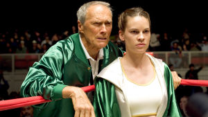 Clint Eastwood ja Hilary Swank elokuvassa Million Dollar Baby