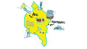 Kuvallinen kartta Keski-Ruotsista