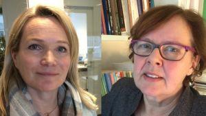 Forskarna Mirjam Kalland och Harriet Strandell