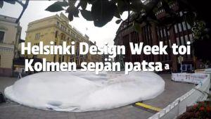 Yle Helsinki: Kolmen sepän pasaalle kohonnut jättikupla on osa Helsinki Design Weekin ohjelmistoa