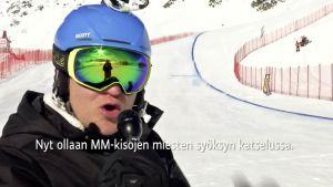 Alppihiihdon MM: Tällainen on pelätty syöksyrinne - katso Kallen rataesittely