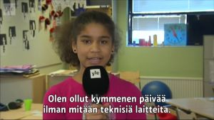 Yle Uutiset Lounais-Suomi: Turkulaisoppilaat kokeilivat kymmenen päivän digipaastoa