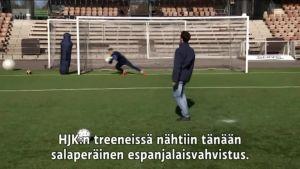 Urheilujuttuja: Mitä taitoluistelun maailmanmestari teki HJK:n treeneissä?