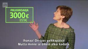 Uutisvideot: Ymmärrätkö palkkakuittisi rivi riviltä? Näin bruttopalkka kutistuu netoksi