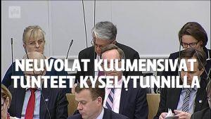 Uutisvideot: Neuvolat kuumensivat kansanedustajien tunteet