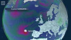 Hurrikaani Ophelia lähestyy Irlantia viikonvaihteessa