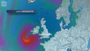 Uutisvideot: Näin Ophelia-myrsky etenee kohti Irlantia