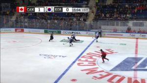 Urheilujuttuja: Etelä-Korean maalit Kanadaa vastaan avauserässä