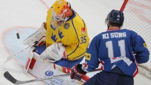 Urheilujuttuja: Etelä-Korea iski Ruotsia vastaan avausmaalin