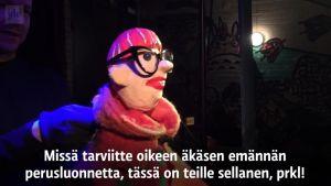 Yle Uutiset Häme: Nukketeatteri tekee satiiria presidenttikampanjasta