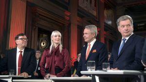 Presidentinvaalit 2018: Neljä vaalien kärkiehdokasta yhteishaastattelussa