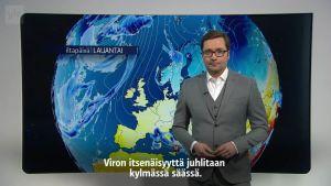 Uutisvideot: Matti Huutonen lukee sään viroksi