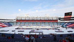 Buffalon kiekkostadion kuvassa