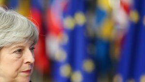 Britannian pääministeri Theresa May Brysselissä 14. joulukuuta 2017.