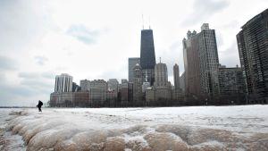Näkymä Chicagosta 3. tammikuuta.