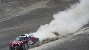 Mikko Hirvonen ja saksalainen Andreas Schulz muodostavat Mini-tiimin Dakar-rallissa