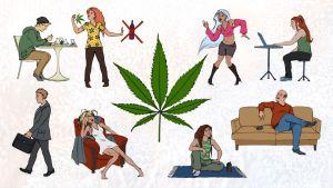 Huumeiden viihdekäyttäjien erilaisia perustyyppejä