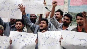 Mieleosoitus Pakistanin Kasurissa.