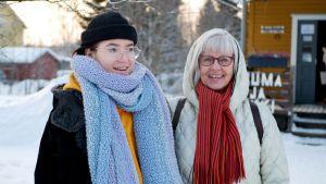 Anni ja Ritva ovat mukana OSAO:n K2K-kaveritoiminnassa.