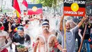 Mielenosoitus Melbournessa.