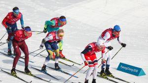 Miesten olympiaviestin ykkösosuuden hiihtäjiä, Perttu Hyvärinen