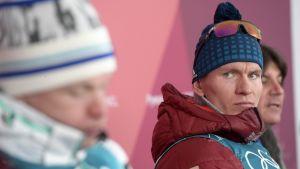 Iivo Niskanen ja Aleksander Bolshunov kuvassa