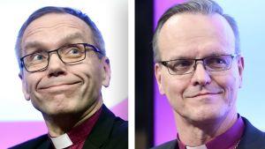 Arkkipiispaehdokkaat Björn Vikström ja Tapio Luoma.