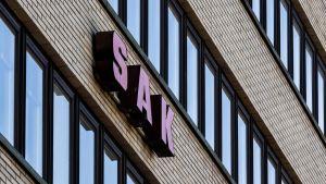 SAK:n logo Hakaniemessä